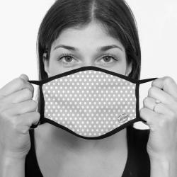 contento Lamask Mund-Nasen-Bedeckung PUNKTE GRAU