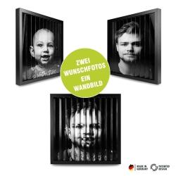 Fotogeschenke zickzackfoto personalisiert - 42 x 42 cm Rahmen schwarz