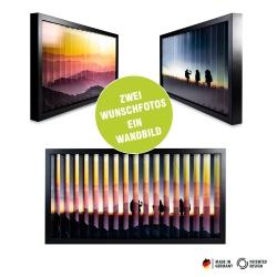 Fotogeschenke zickzackfoto personalisiert - 63 x 33 cm Rahmen schwarz