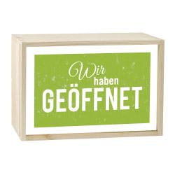 contento Lightbox GEÖFFNET 30x20 cm