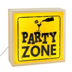 contento Lightbox PARTY ZONE 25x25 cm
