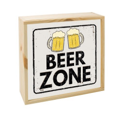 contento Lightbox BEER ZONE 25x25 cm
