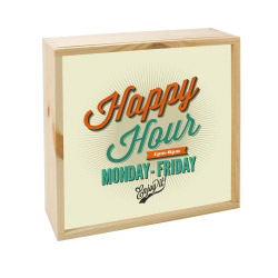 contento Lightbox HAPPY HOUR  25x25 cm