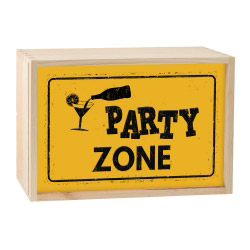 contento Lightbox PARTY ZONE 30x20 cm