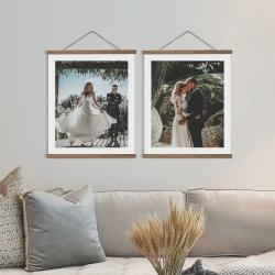 Fotogeschenke Posterleisten mit eigenem Foto - clipwood Set Hochformat 30 x 40 Eiche