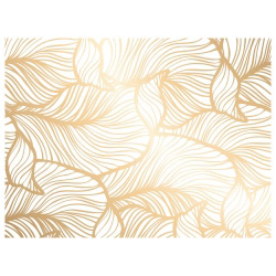 contento Tischset Vinyl Golden Leaves