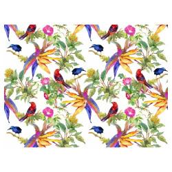 Tischset Vinyl Exotic Parrots