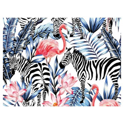 contento Tischset Vinyl Flamingo & Zebra